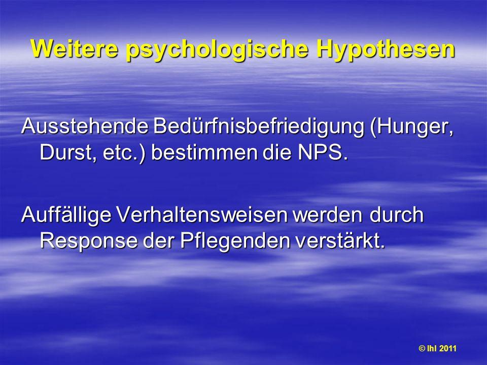 Weitere psychologische Hypothesen