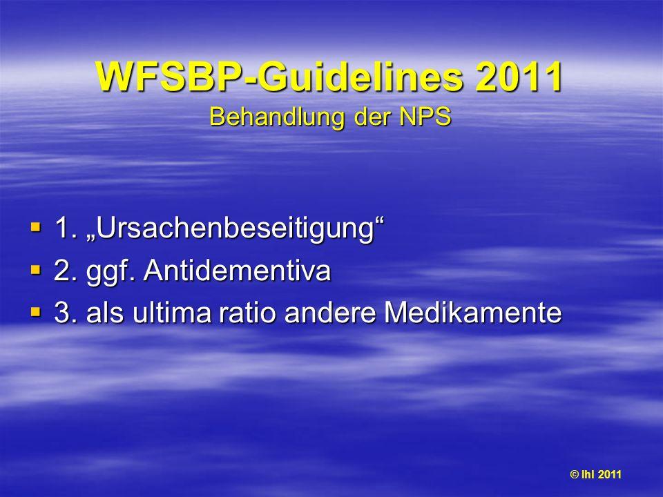 WFSBP-Guidelines 2011 Behandlung der NPS