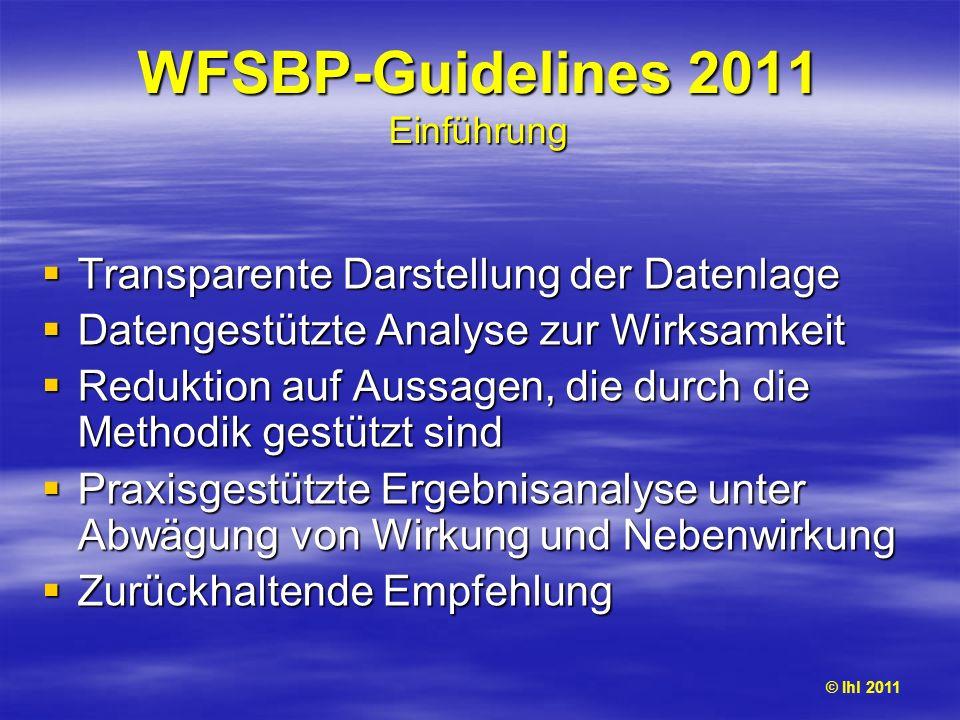 WFSBP-Guidelines 2011 Einführung