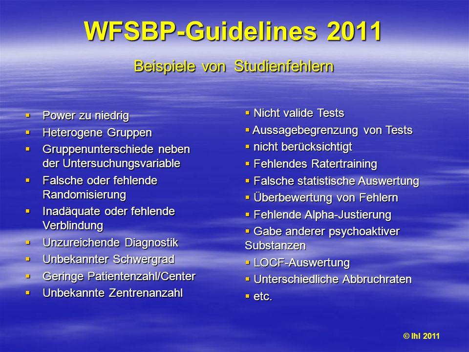WFSBP-Guidelines 2011 Beispiele von Studienfehlern