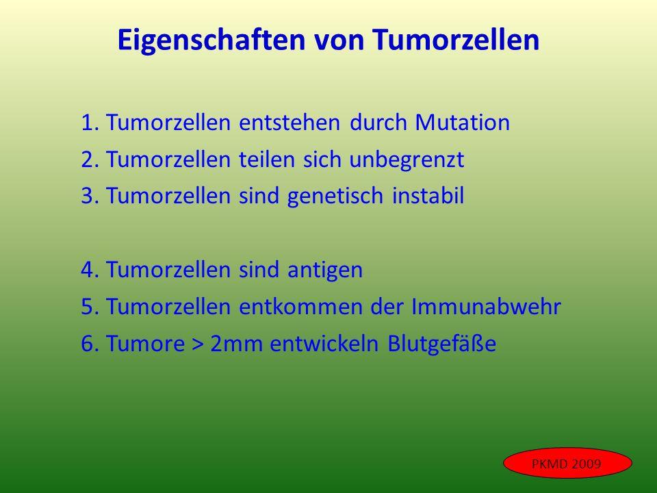 Eigenschaften von Tumorzellen