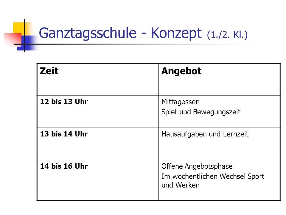 Ganztagsschule - Konzept (1./2. Kl.)