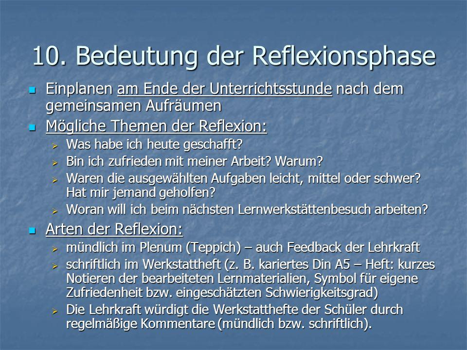 10. Bedeutung der Reflexionsphase