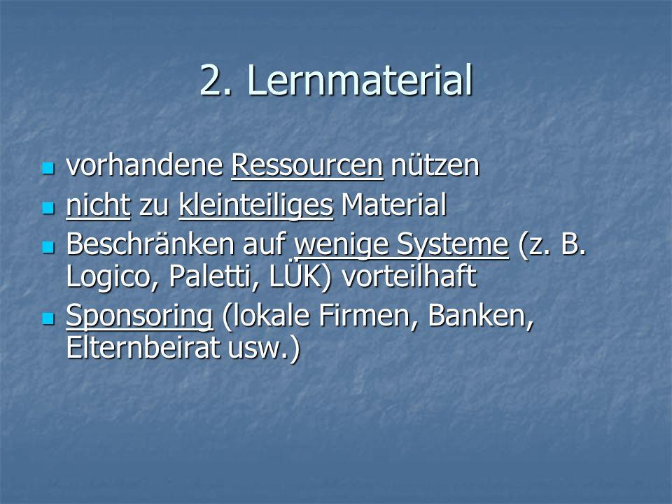 2. Lernmaterial vorhandene Ressourcen nützen