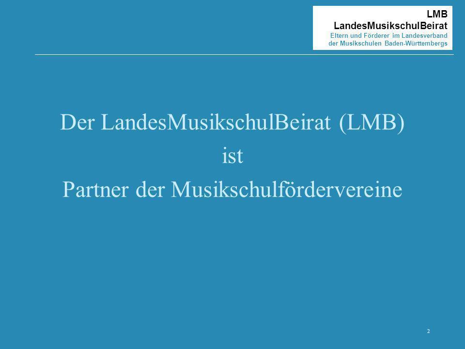 Der LandesMusikschulBeirat (LMB) ist