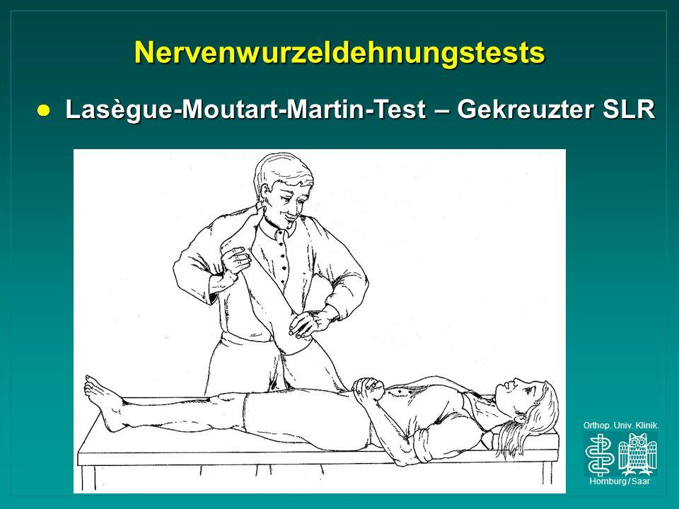Nervenwurzeldehnungstests