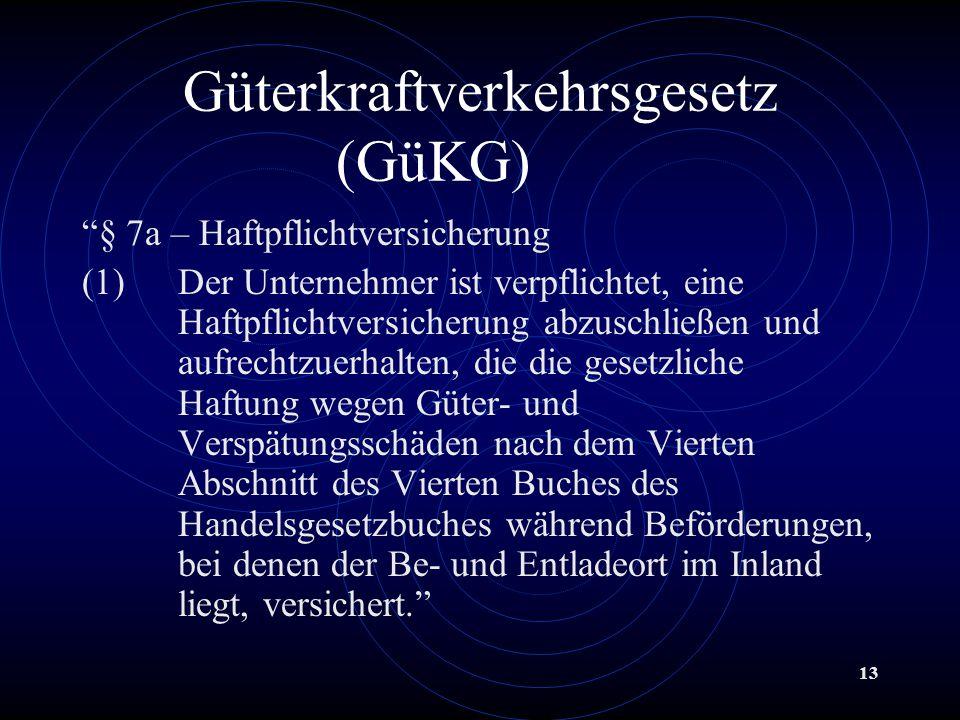 Güterkraftverkehrsgesetz (GüKG)