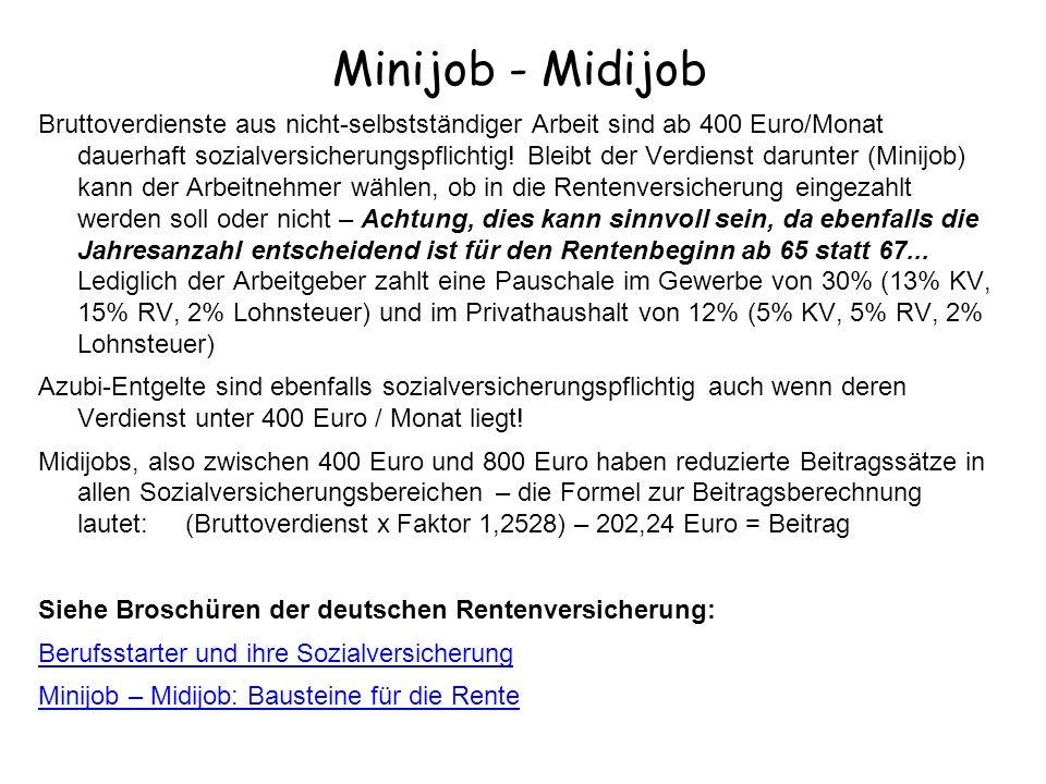 Minijob - Midijob