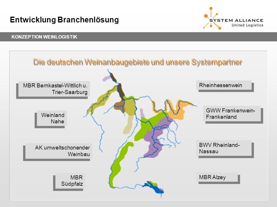 Die deutschen Weinanbaugebiete und unsere Systempartner