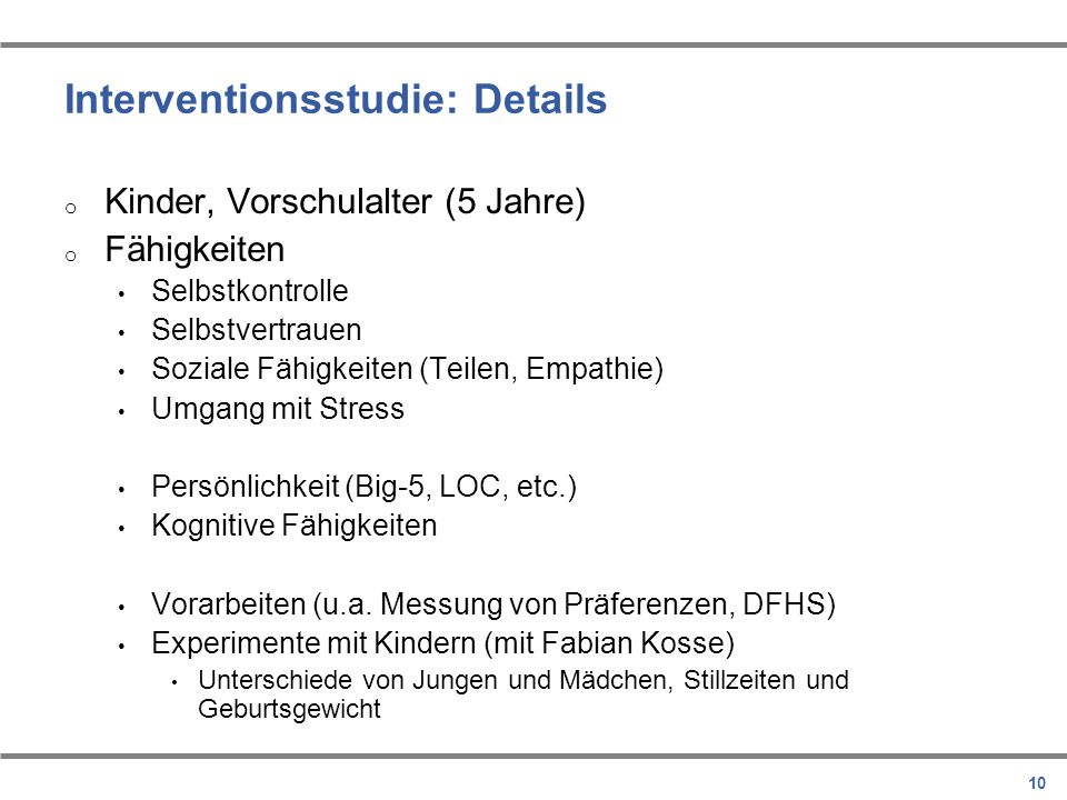 Interventionsstudie: Details