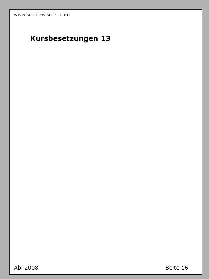 www.scholl-wismar.com Kursbesetzungen 13 Abi 2008 Seite 16