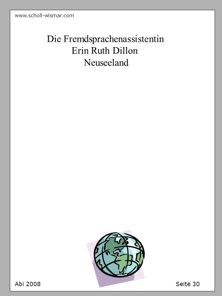 Die Fremdsprachenassistentin Erin Ruth Dillon Neuseeland