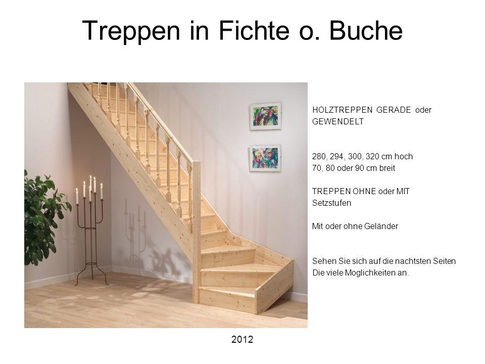 Treppen in Fichte o. Buche