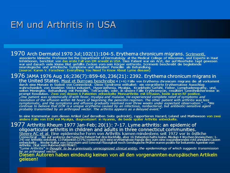 EM und Arthritis in USA