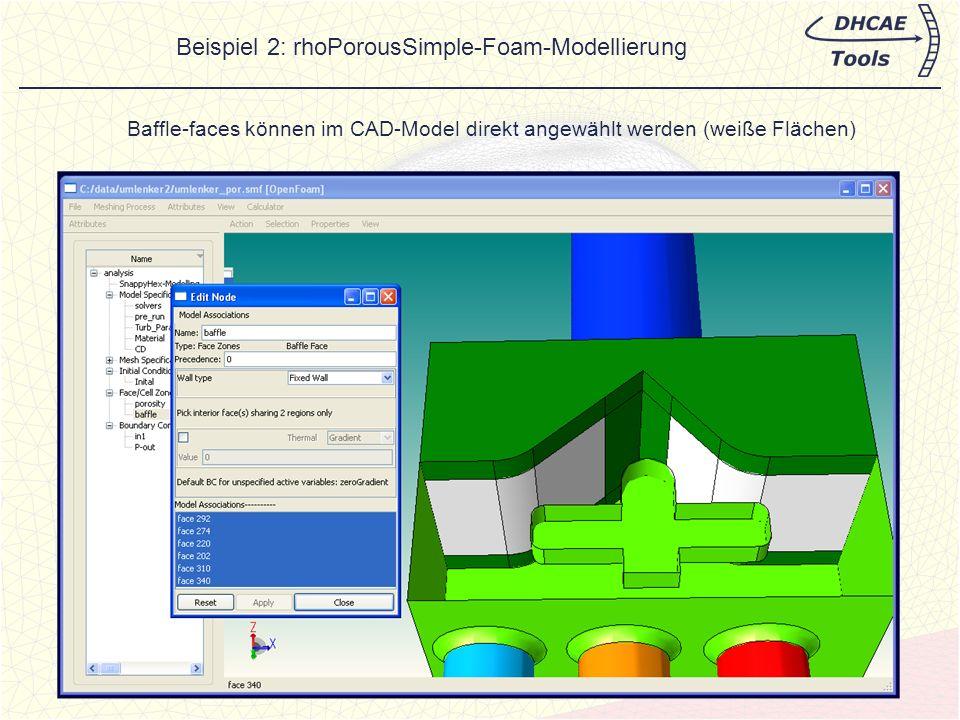 Beispiel 2: rhoPorousSimple-Foam-Modellierung