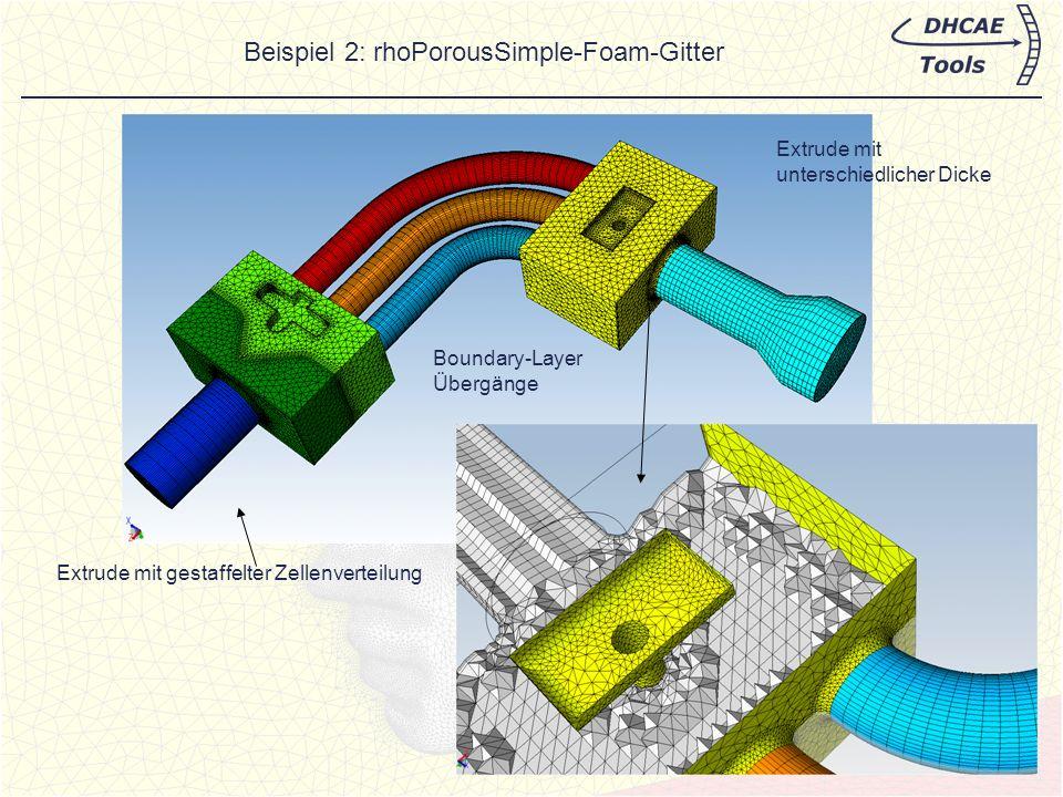 Beispiel 2: rhoPorousSimple-Foam-Gitter