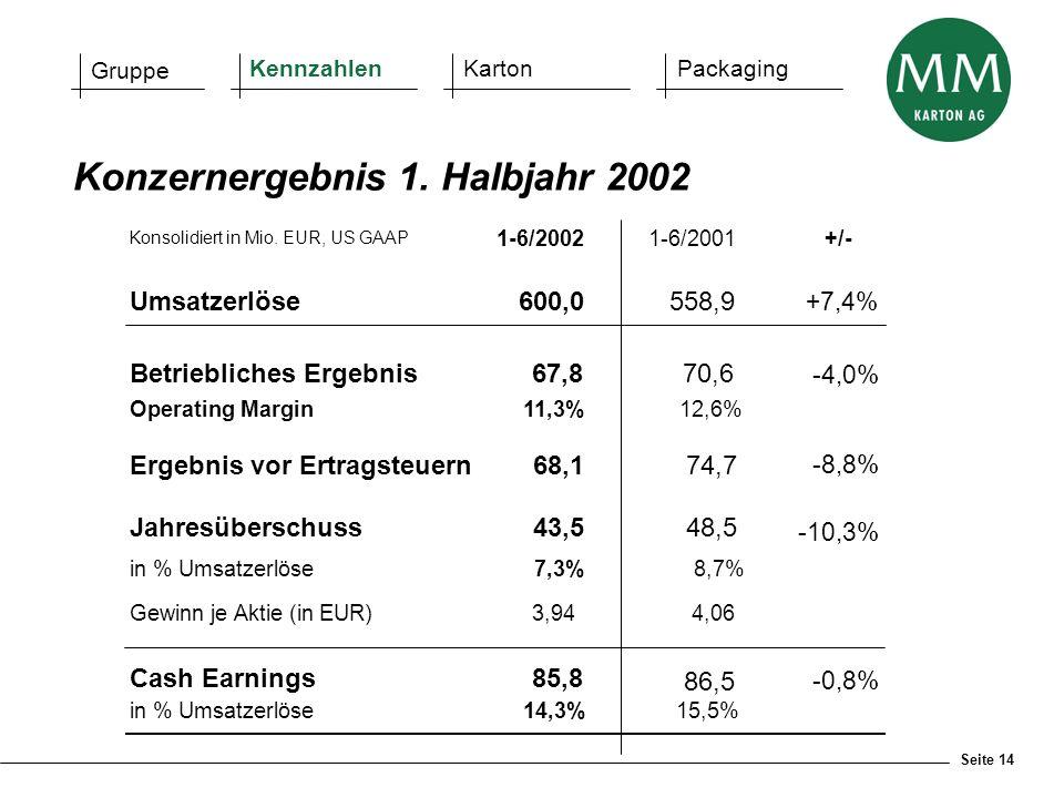 Konzernergebnis 1. Halbjahr 2002