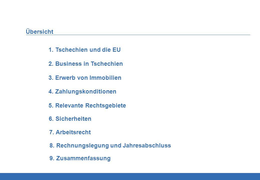 Übersicht 1. Tschechien und die EU. 2. Business in Tschechien. 3. Erwerb von Immobilien. 4. Zahlungskonditionen.