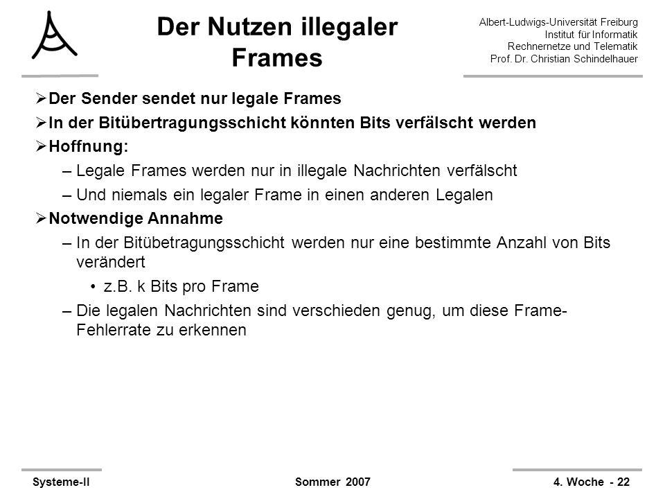 Der Nutzen illegaler Frames