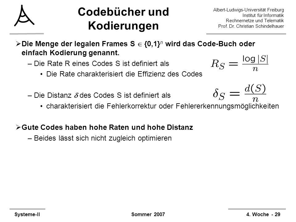 Codebücher und Kodierungen