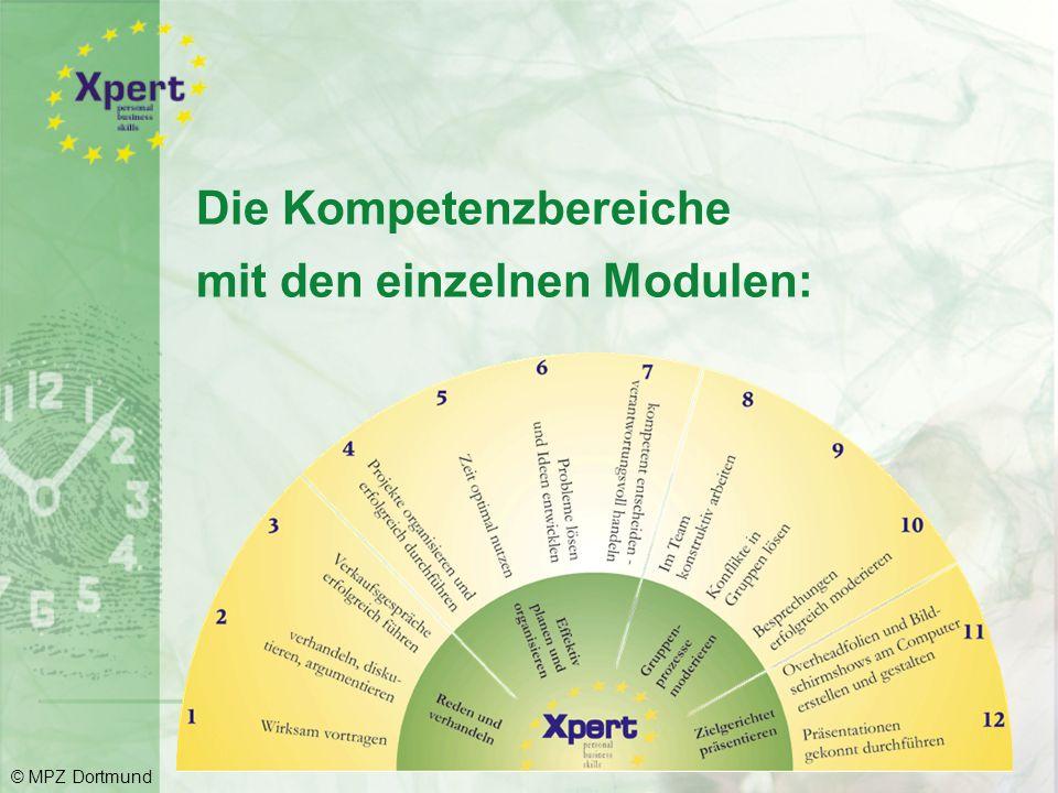 Die Kompetenzbereiche mit den einzelnen Modulen: