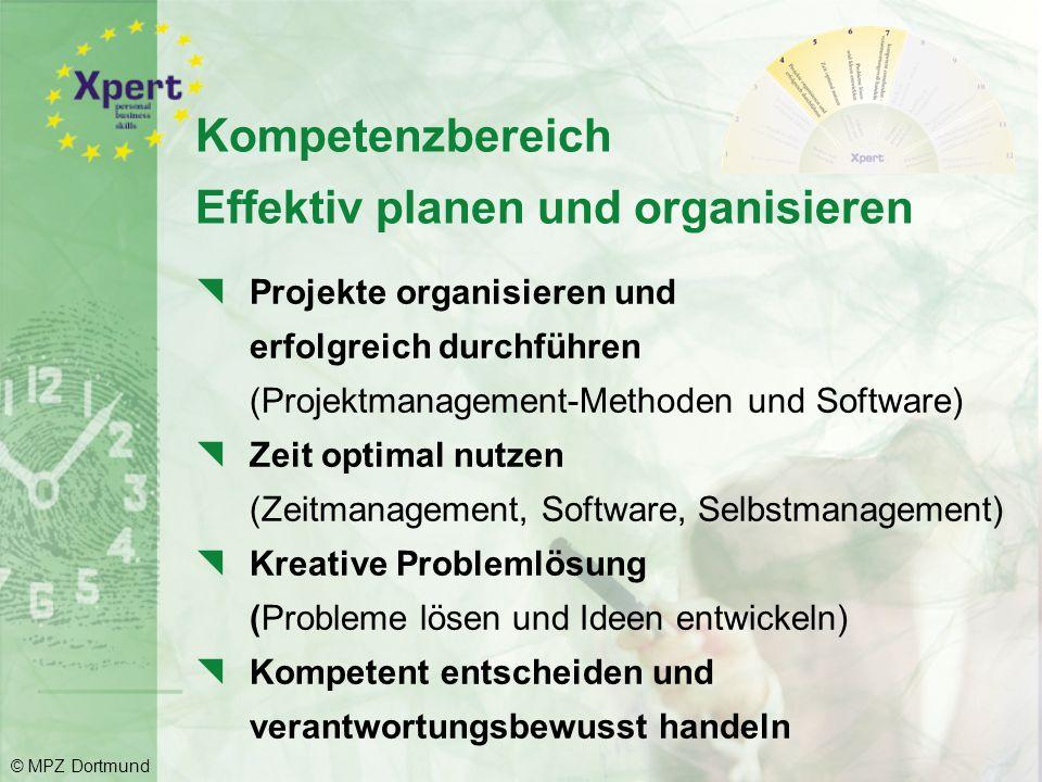 Kompetenzbereich Effektiv planen und organisieren