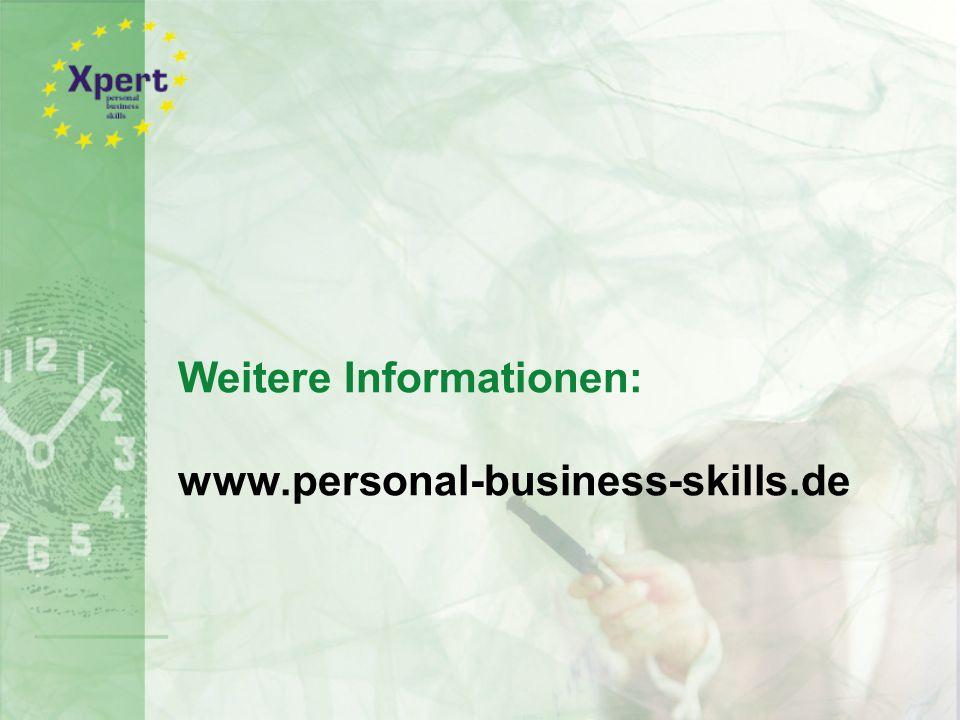 Weitere Informationen: www.personal-business-skills.de
