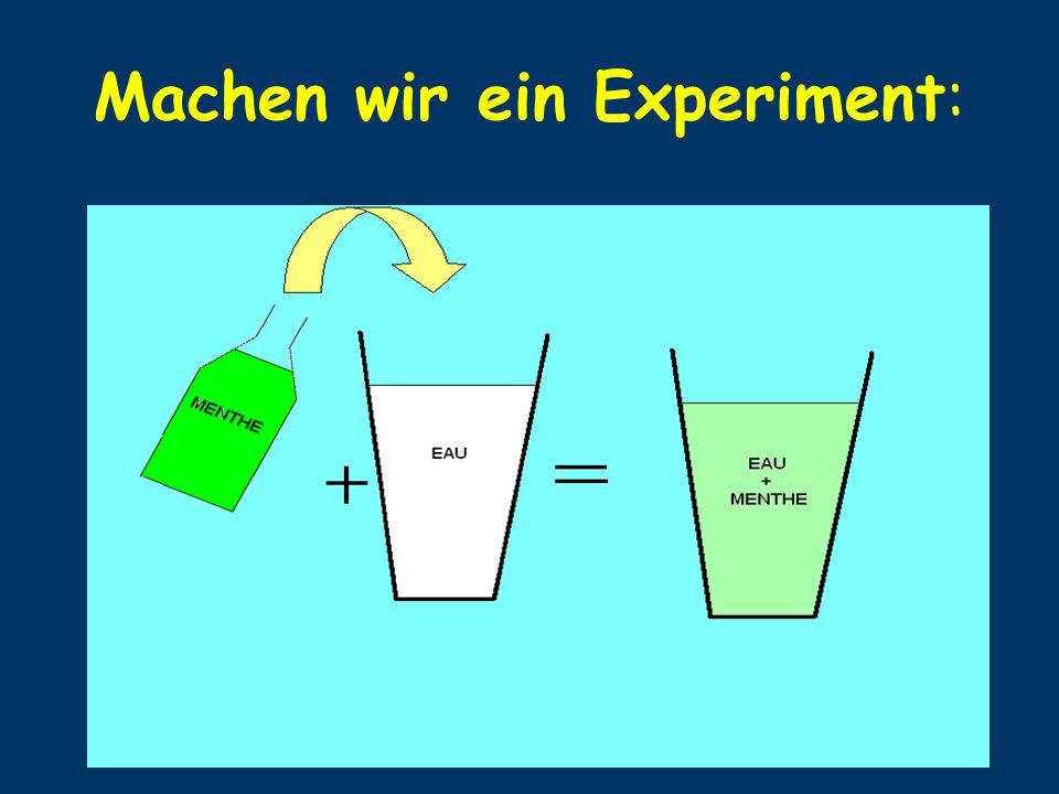 Machen wir ein Experiment: