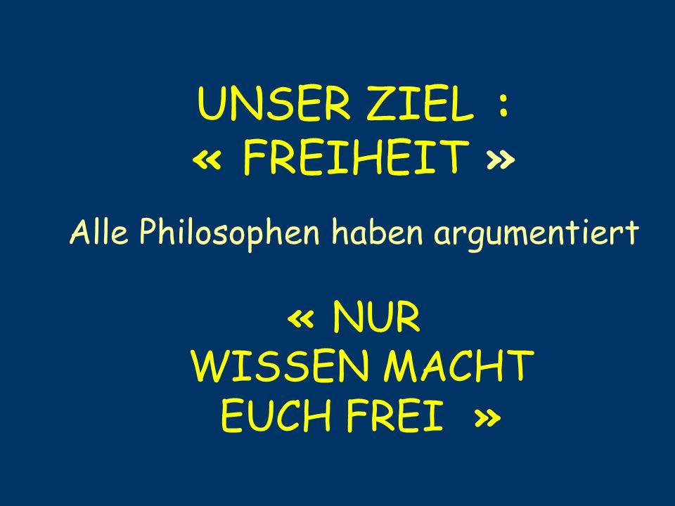 Alle Philosophen haben argumentiert