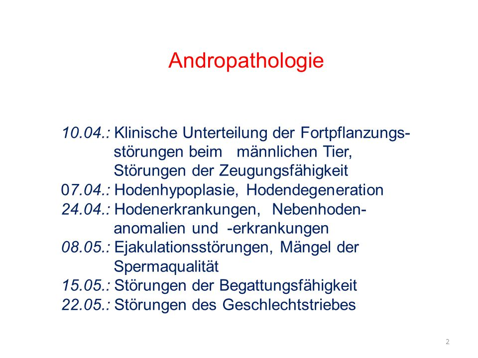 Andropathologie