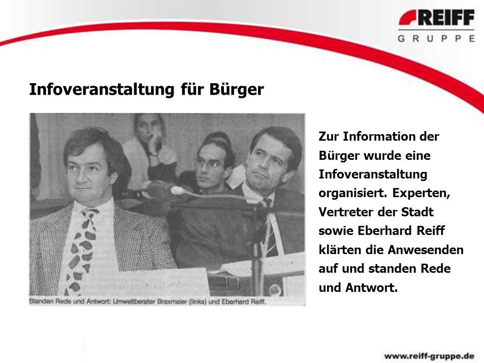 Infoveranstaltung für Bürger