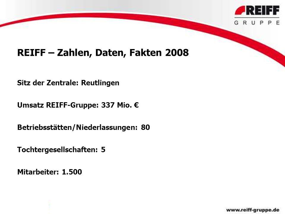 REIFF – Zahlen, Daten, Fakten 2008