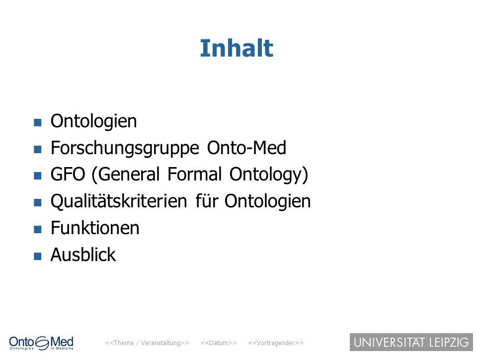 Inhalt Ontologien Forschungsgruppe Onto-Med