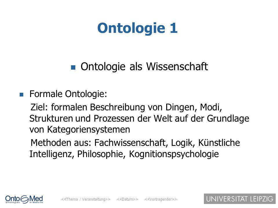 Ontologie als Wissenschaft