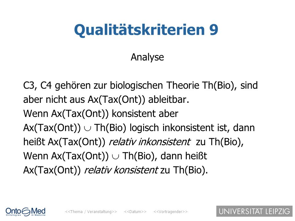 Qualitätskriterien 9 Analyse