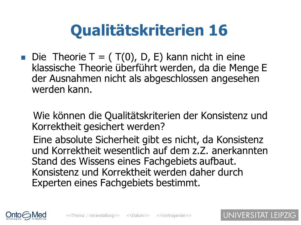 Qualitätskriterien 16