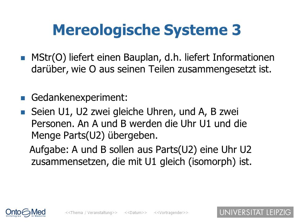 Mereologische Systeme 3