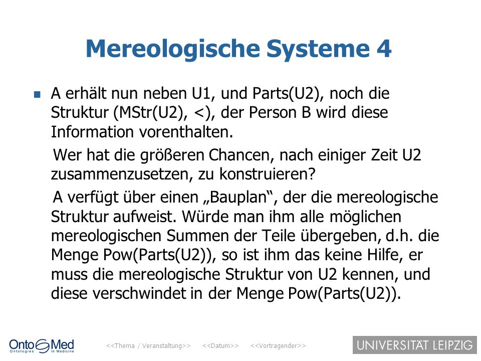 Mereologische Systeme 4