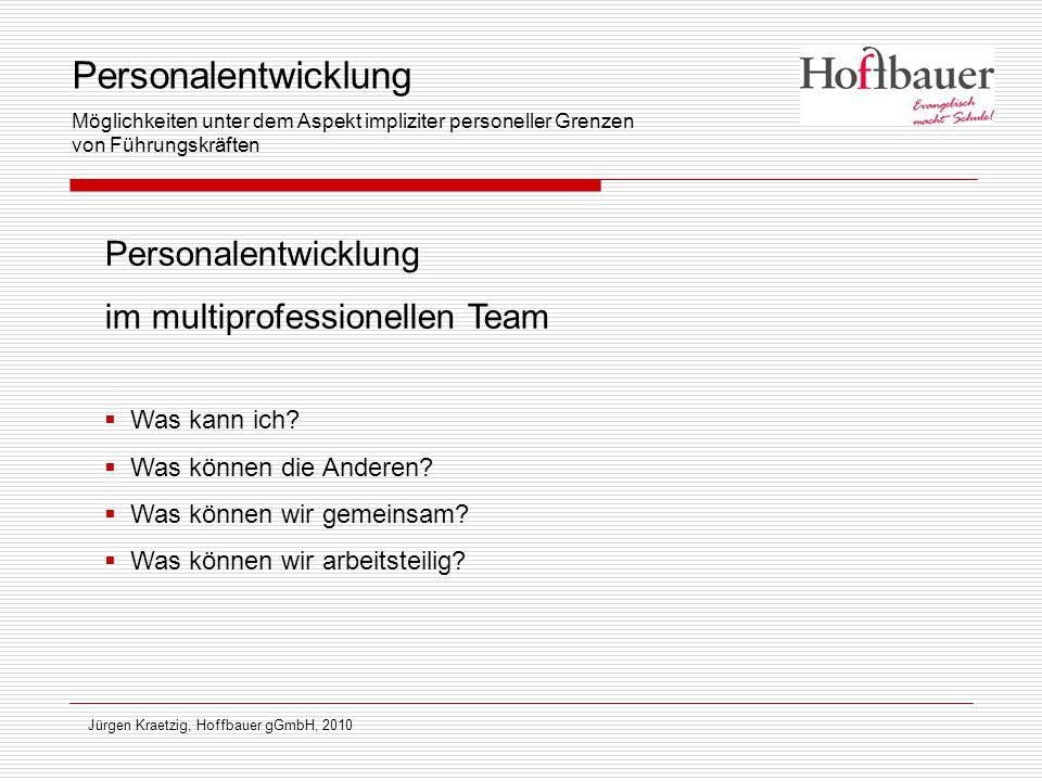 Personalentwicklung Personalentwicklung im multiprofessionellen Team