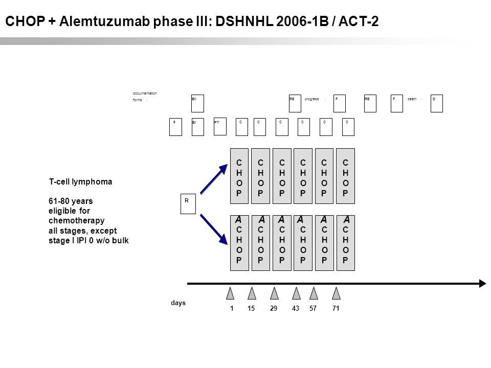 CHOP + Alemtuzumab phase III: DSHNHL 2006-1B / ACT-2