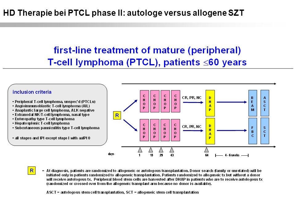 HD Therapie bei PTCL phase II: autologe versus allogene SZT