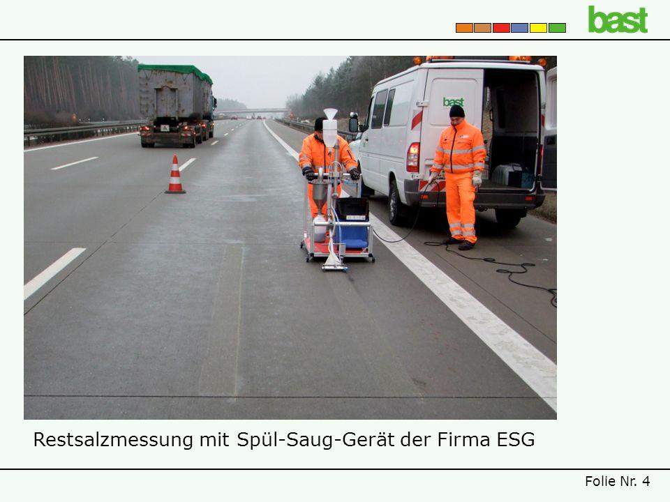 Restsalzmessung mit Spül-Saug-Gerät der Firma ESG