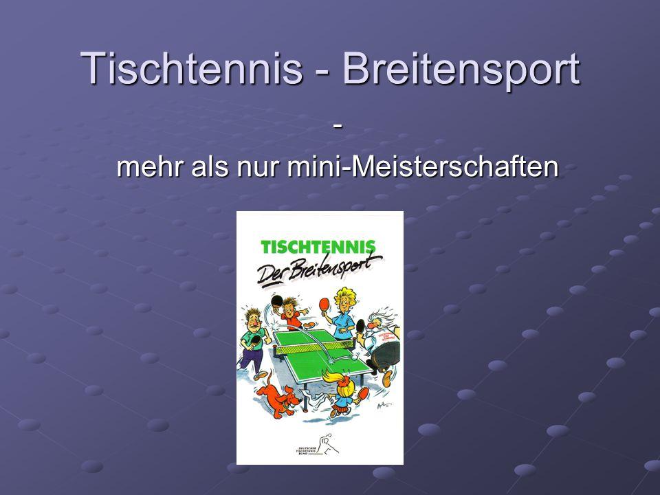 Tischtennis - Breitensport