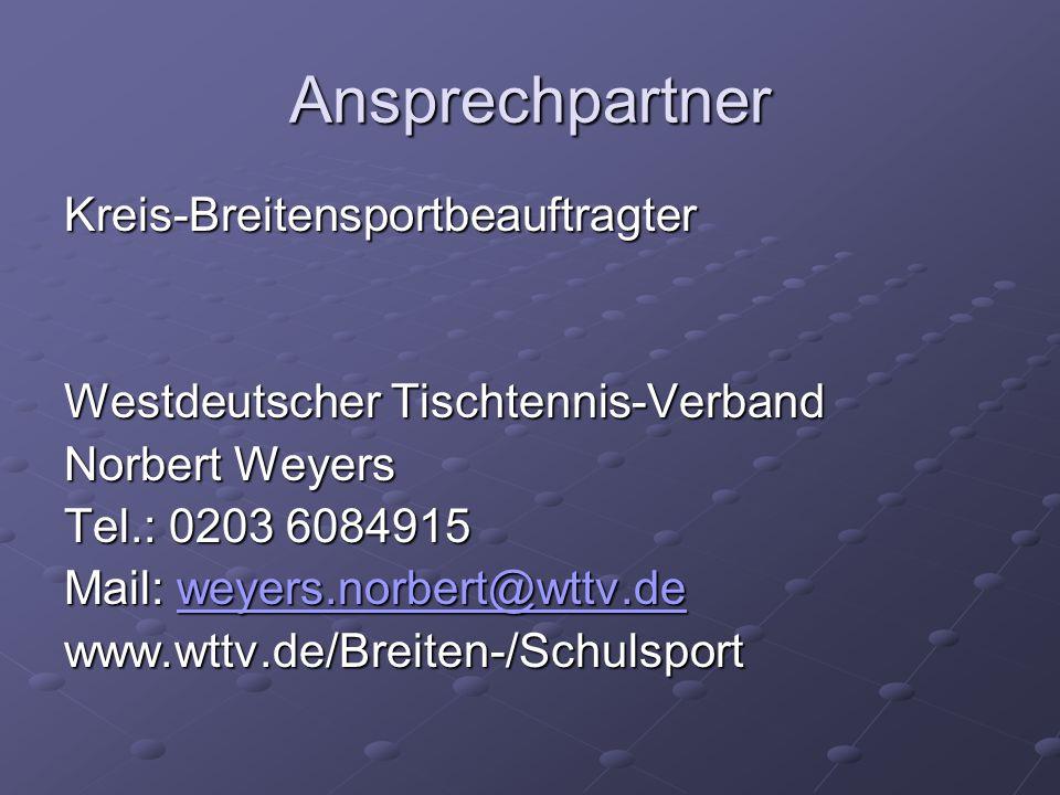 Ansprechpartner Kreis-Breitensportbeauftragter
