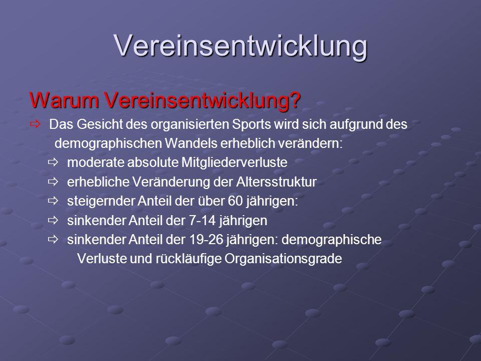 Vereinsentwicklung Warum Vereinsentwicklung