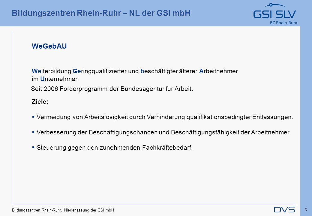 05.04.2017 WeGebAU Weiterbildung Geringqualifizierter und beschäftigter älterer Arbeitnehmer im Unternehmen.
