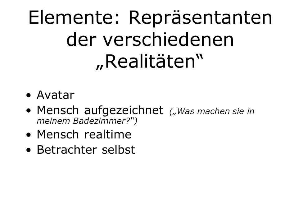 """Elemente: Repräsentanten der verschiedenen """"Realitäten"""