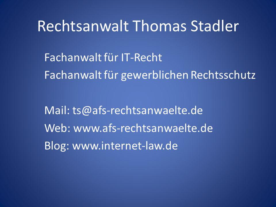 Vortrag von Thomas Stadler @kit-Kongress 2009