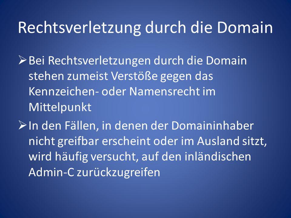 Beteiligte der Domainregistrierung