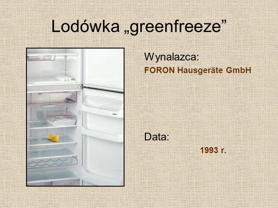 "Lodówka ""greenfreeze"